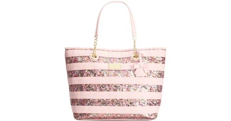 Exlusive Grosir Sneaker Pink Strape Termurah lyst betsey johnson macy s exclusive stripe sequin tote in pink