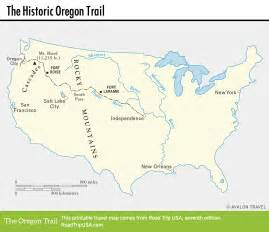 oregon trail on a map the historic oregon trail road trip usa