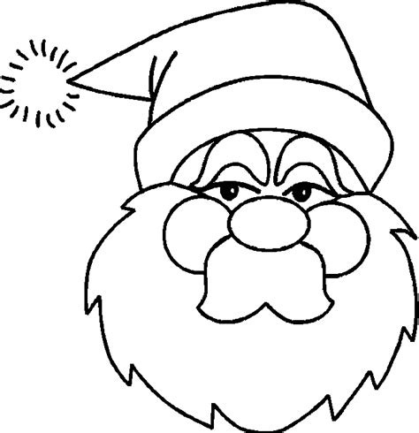 Santa Cartoon Coloring Kids Colouring Pages Santa