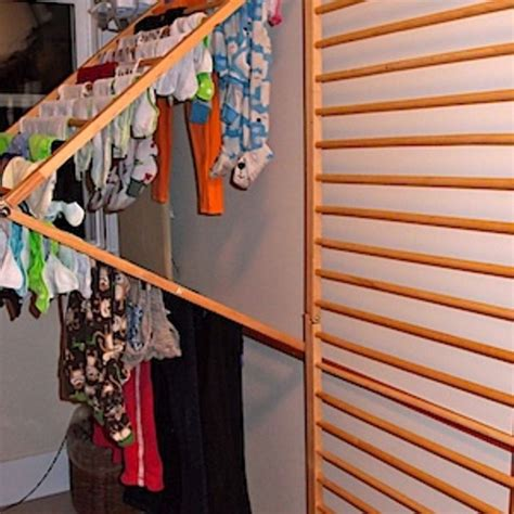 lay flat to dry rack diy wall mounted clothes drying rack