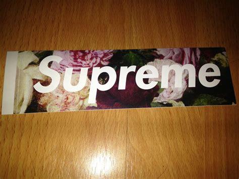 Supreme Stickers Box Logo Original 1 supreme 2013 s s power corruption lies pcl floral