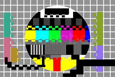 test pattern vector illustration of television color test pattern stock