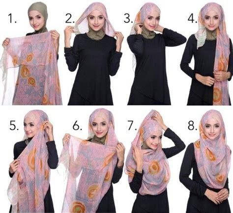 tutorial hijab labuh shawl tutorial hijabista pinterest tutorials and shawl