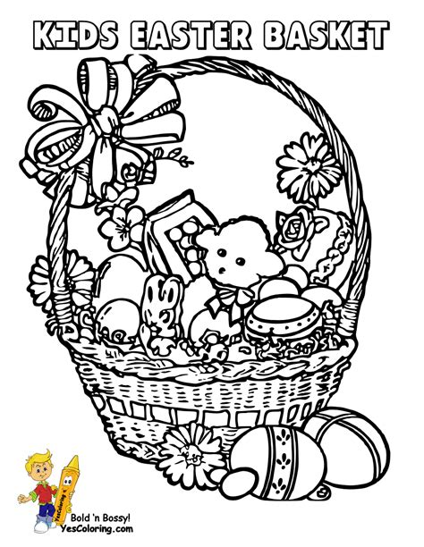 coloring pages of easter baskets handsome easter basket coloring pages free easter