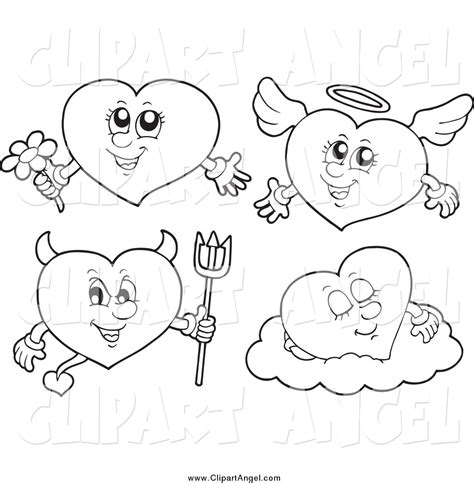 devil heart coloring page angel and devil coloring pages