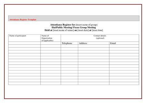 meeting register template attendance sign in sheet exle mughals