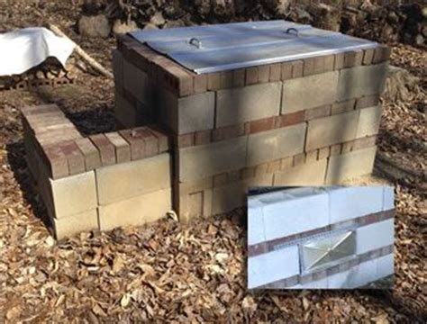 how much to build a pit 23 best images about cinder block smoker on