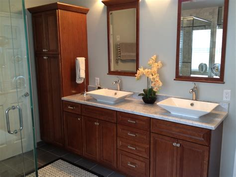 cherry bathroom cabinets sumptuous kohler forte in bathroom traditional with kohler