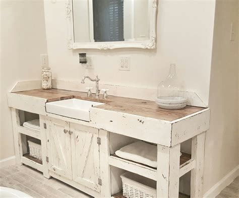 Cottage Bathroom, Farmhouse Bathroom, Farmhouse vanity, farmhouse sink   Master bath   Pinterest