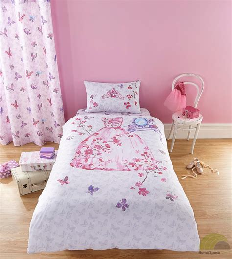 bed covers for girls girls princess single duvet cover bed set or curtains pink