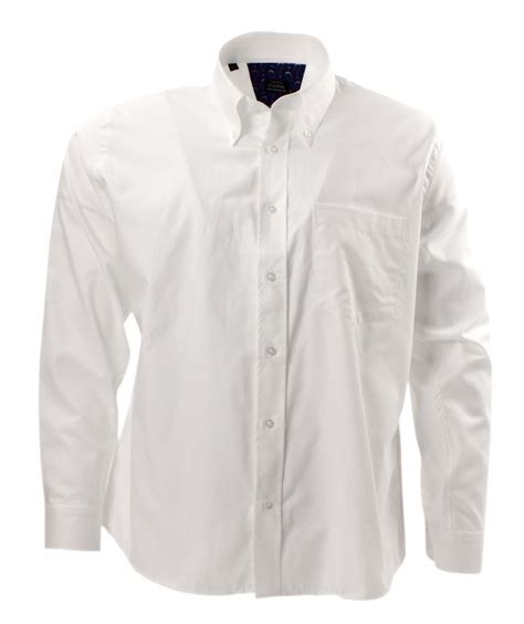White Shirt by Tootal Plain Oxford White Shirt With Button Collar