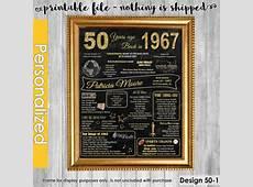50th Birthday Gift for Women, 50th Birthday Chalkboard, 50th Birthday