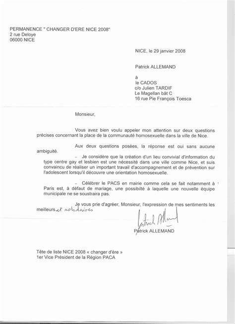 Présentation D Une Lettre En Allemand Municipales 2008 Lettre Ouverte Aux Candidats Cados