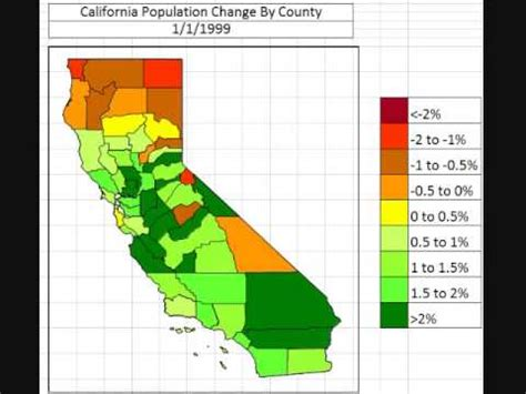 california map by population map california population change by county