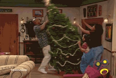 well that s one way to take down a christmas tree nick
