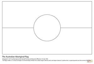 australian flag template to colour australian aboriginal flag coloring page free printable