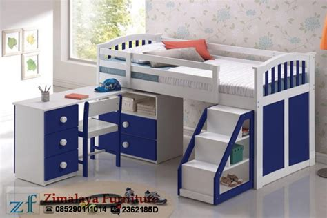 Rak Minimalis Bentuk Frame 1 Set 3pcs tempat tidur meja belajar anak zimalaya furniture