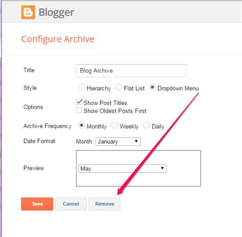 blogger delete blog how to hide blog archive widget from showing on blogger