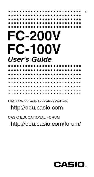 Casio Financial Calculator Fc 100v casio fc 100v financial calculator calculator