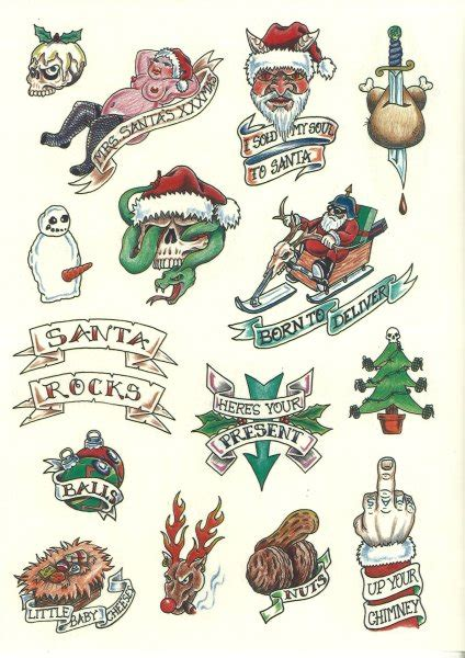 christmas tattoos images designs