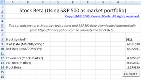 calc stock portfolio spreadsheet