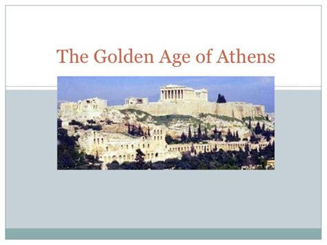 the golden age of the golden age of athens