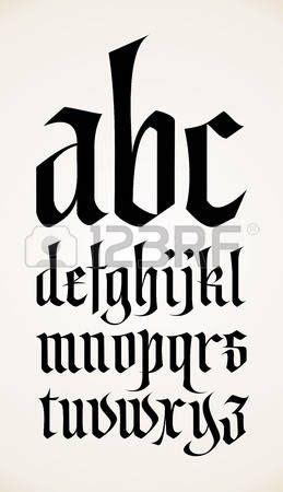lettere in gotico letter vector g 243 tico alfabeto fuente g 243 ticas