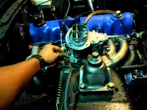 motor ford falcon   maverick primeira vez funcionando