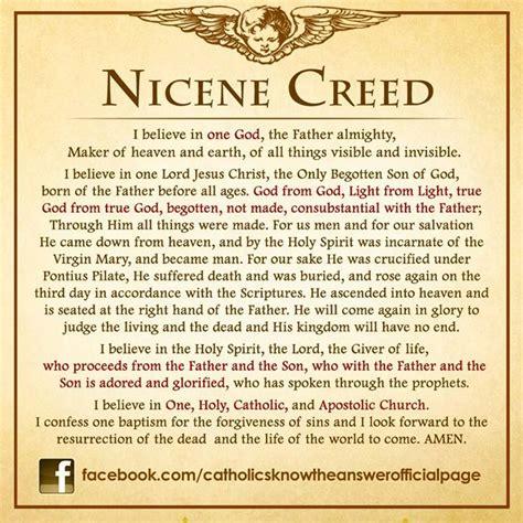 printable version nicene creed the nicene creed i believe pinterest