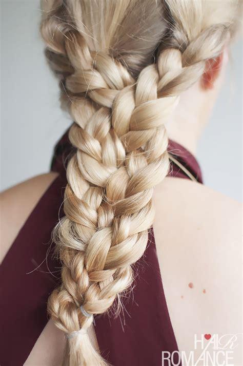 the braid hairstyles the triple braid hairstyle tutorial hair romance