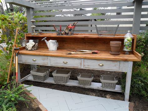 potting bench with sink plans potting bench with storage best storage design 2017