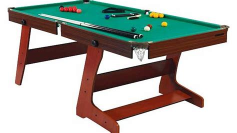 6ft Folding Pool Table Snooker And Pool Tables And Equipment Hy Pro 6ft Icon Pool T