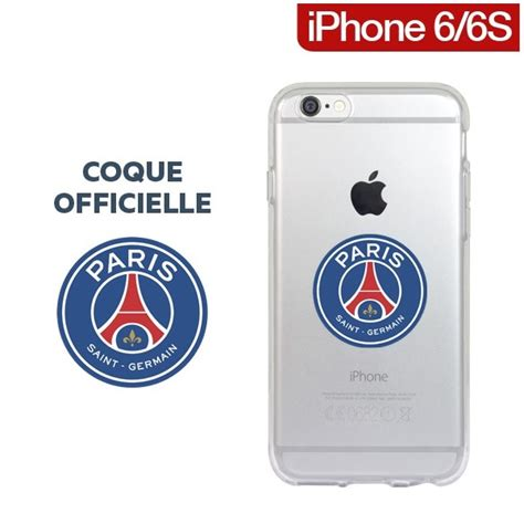 coque officielle psg tpu transparente pour iphone 6s 6