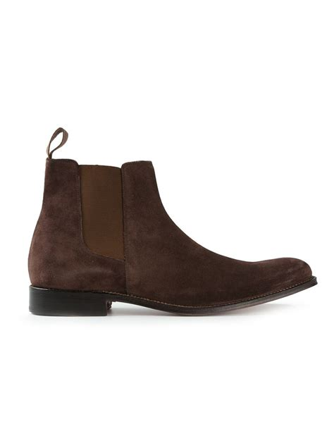 grenson classic chelsea boots in brown for lyst
