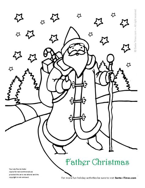 Coloring Pictures Of Father Christmas | father christmas coloring page