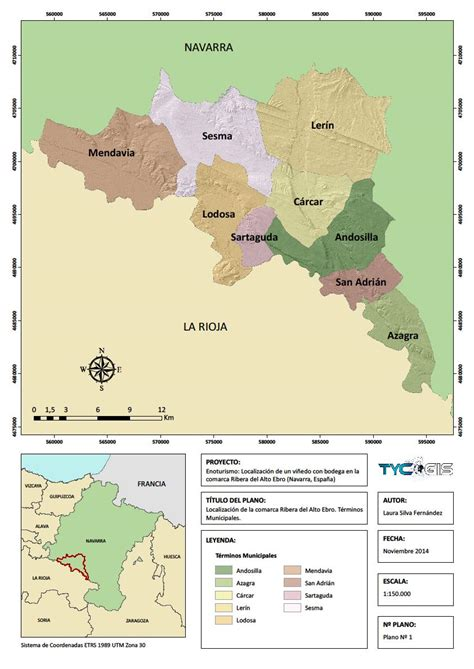 layout mapa arcgis localizacion de un viaeedo con bodega en la comarca ribera