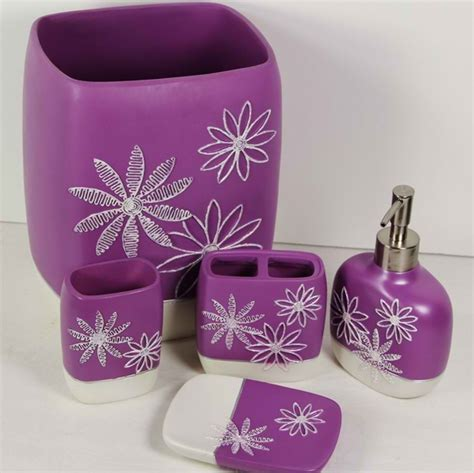 lavender bathroom decor elegant sophisticated purple bathroom accessories