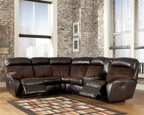 rent to own berneen sectional sofa in coffee