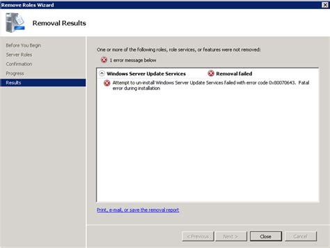 Remove L Server by Clint Boessen S Problems Removing Wsus From Sbs 2008