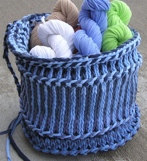 knitting pattern with tshirt yarn basket knitting patterns in the loop knitting