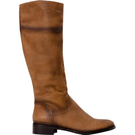 jodie brown knee high leather boots paolo shoes