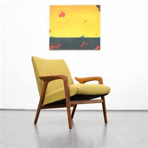 scandinavian style yellow armchair for sale at pamono