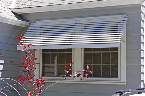 picture of an awning aluminum window slatted aluminum window awnings