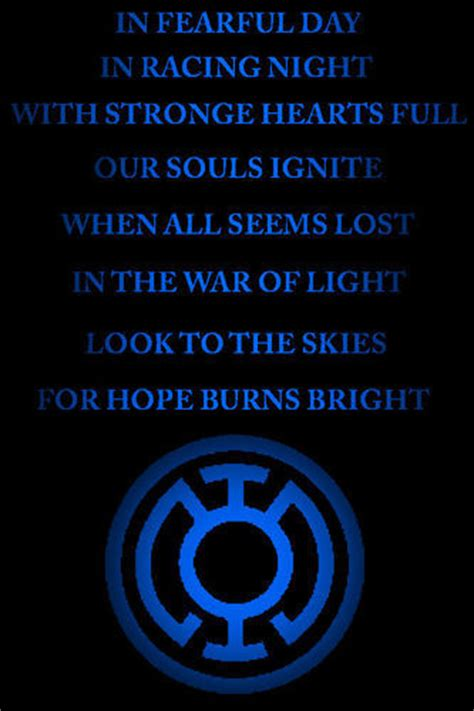 oath of honor blue justice blue lantern corps oath