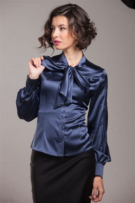 Blouse Katun C Bow 17 best images about satin blouses on skirt satin and purple satin