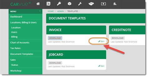 customising your invoice credit note purchase order