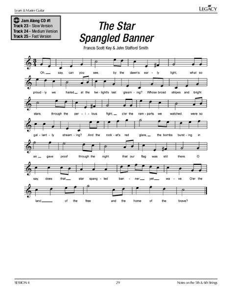 guitar tutorial ebook star spangled banner guitar tab pdf