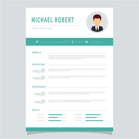 Resume Template Vector by Corporate Resume Template Vector Free Vector