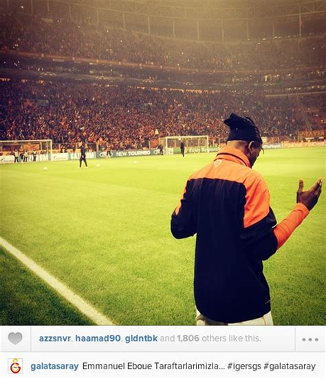 arsenal instagram ex arsenal defender emmanuel eboue has a prayer before