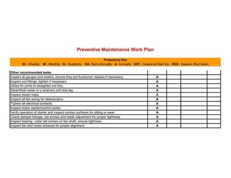 Facility Preventive Maintenance Schedule Template Printable Pdf Download Free Premium Facility Preventive Maintenance Schedule Template